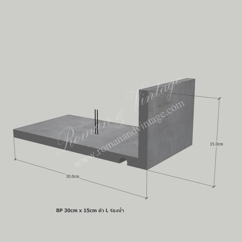 บัวปูนปั้น แบบโมเดิร์น บัวปูนปั้น แบบโมเดิร์น                                             BP 30cm x 15cm           L