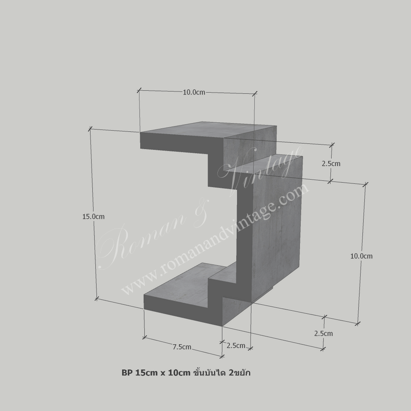 บัวปูนปั้น แบบโมเดิร์น บัวปูนปั้น แบบโมเดิร์น                    BP 15cm x 10cm                             2