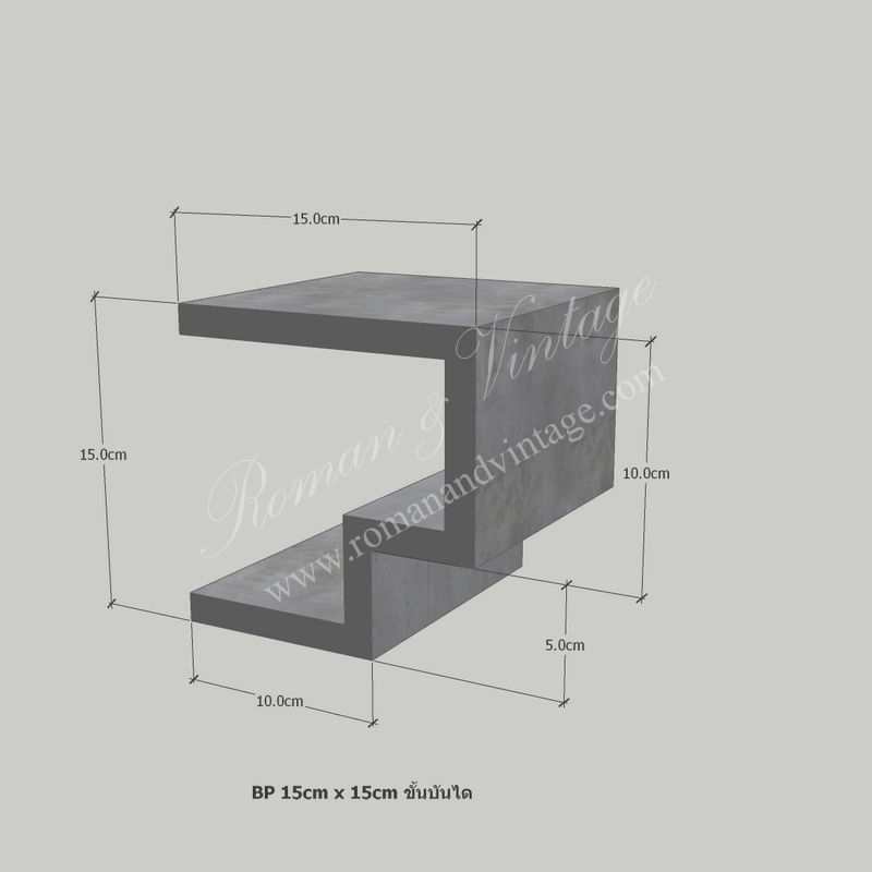 บัวปูนปั้น แบบโมเดิร์น บัวปูนปั้น แบบโมเดิร์น                    BP 15cm x 15cm