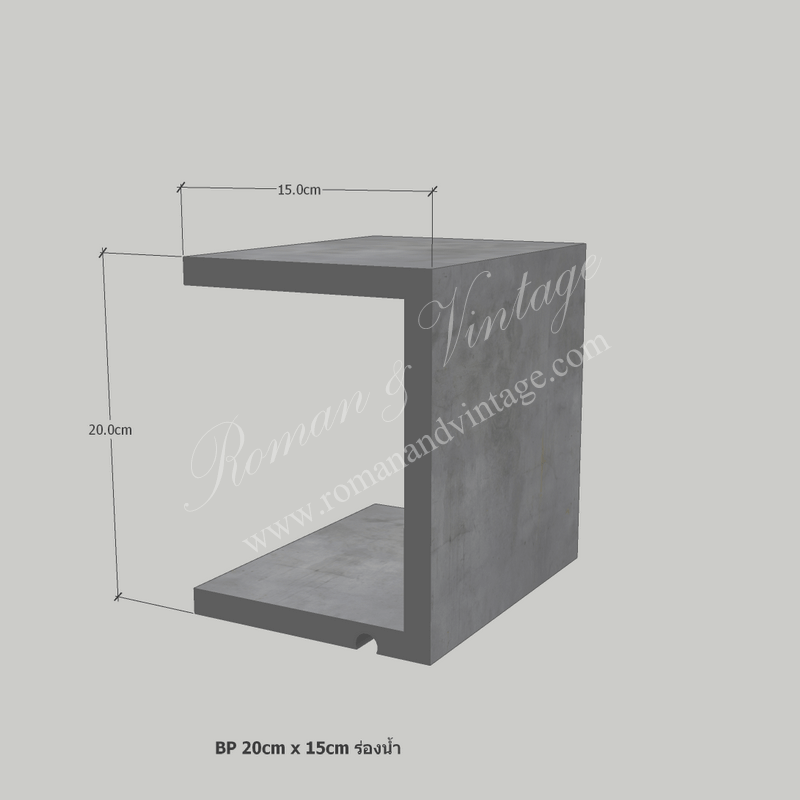 บัวปูนปั้น แบบโมเดิร์น บัวปูนปั้น แบบโมเดิร์น                    BP 20cm x 15cm