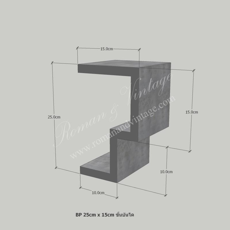 บัวปูนปั้น แบบโมเดิร์น บัวปูนปั้น แบบโมเดิร์น                    BP 25cm x 15cm