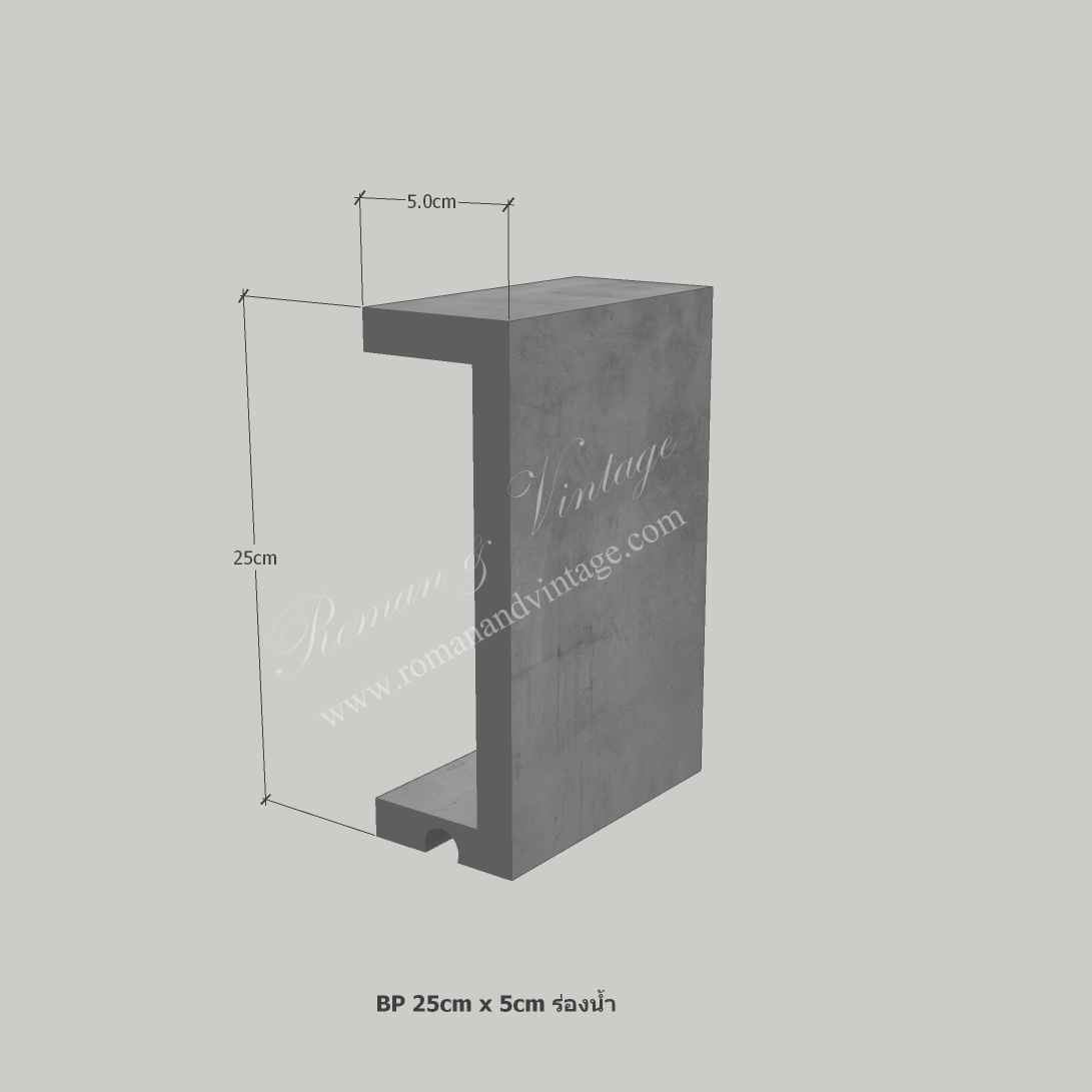 บัวปูนปั้น แบบโมเดิร์น บัวปูนปั้น แบบโมเดิร์น                    BP 25cm x 5cm