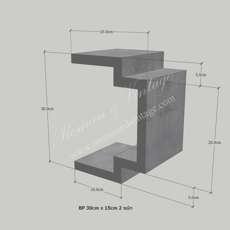 บัวปูนปั้น แบบโมเดิร์น บัวปูนปั้น แบบโมเดิร์น                    BP 30cm x 15cm 2