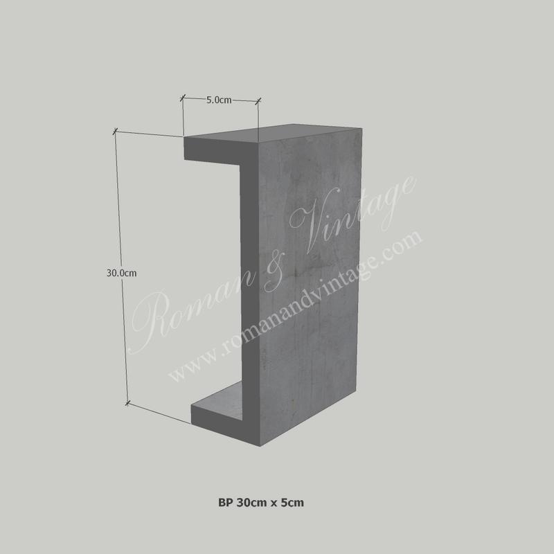 บัวปูนปั้น แบบโมเดิร์น บัวปูนปั้น แบบโมเดิร์น                    BP 30cm x 5cm