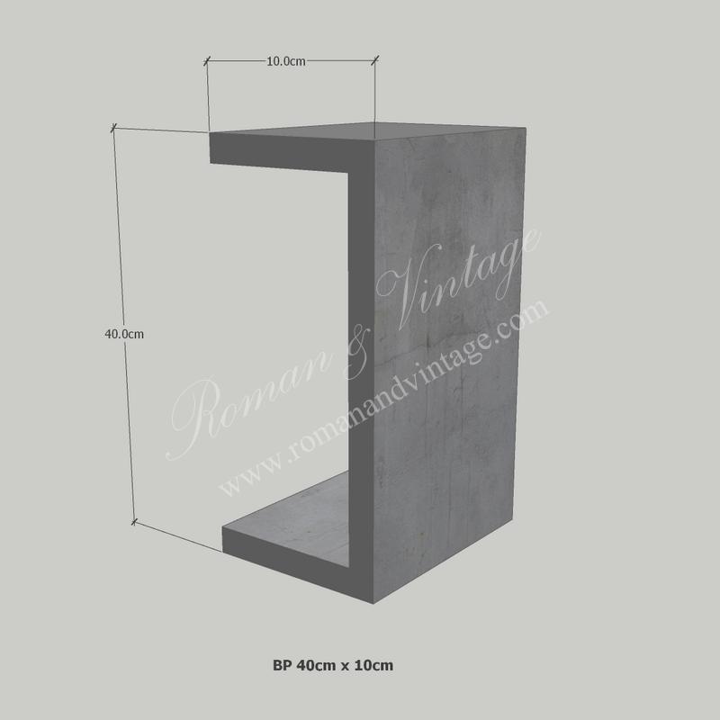 บัวปูนปั้น แบบโมเดิร์น บัวปูนปั้น แบบโมเดิร์น                    BP 40cm x 10cm