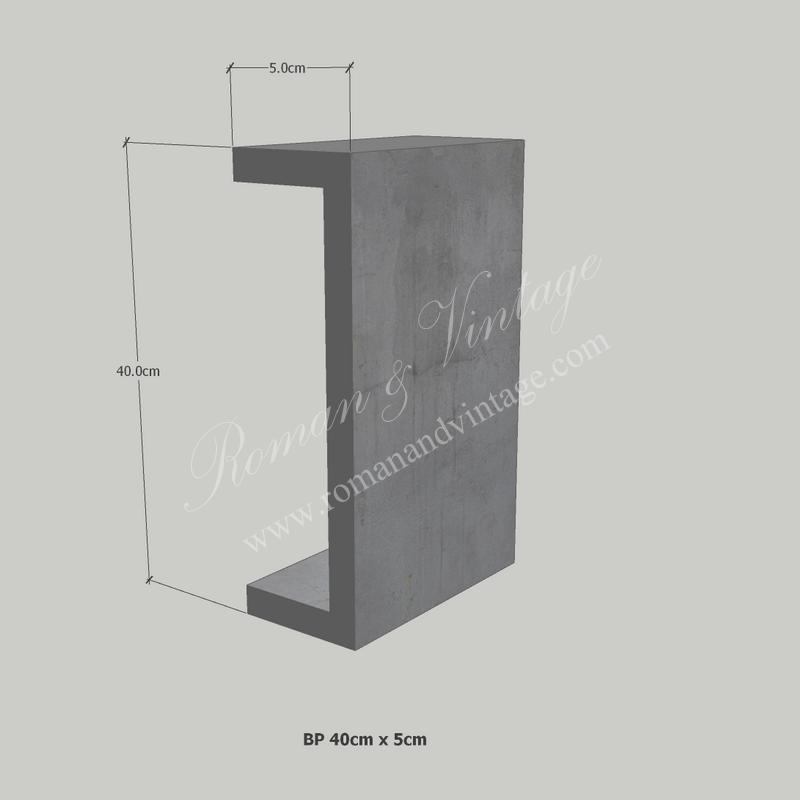 บัวปูนปั้น แบบโมเดิร์น บัวปูนปั้น แบบโมเดิร์น                    BP 40cm x 5cm