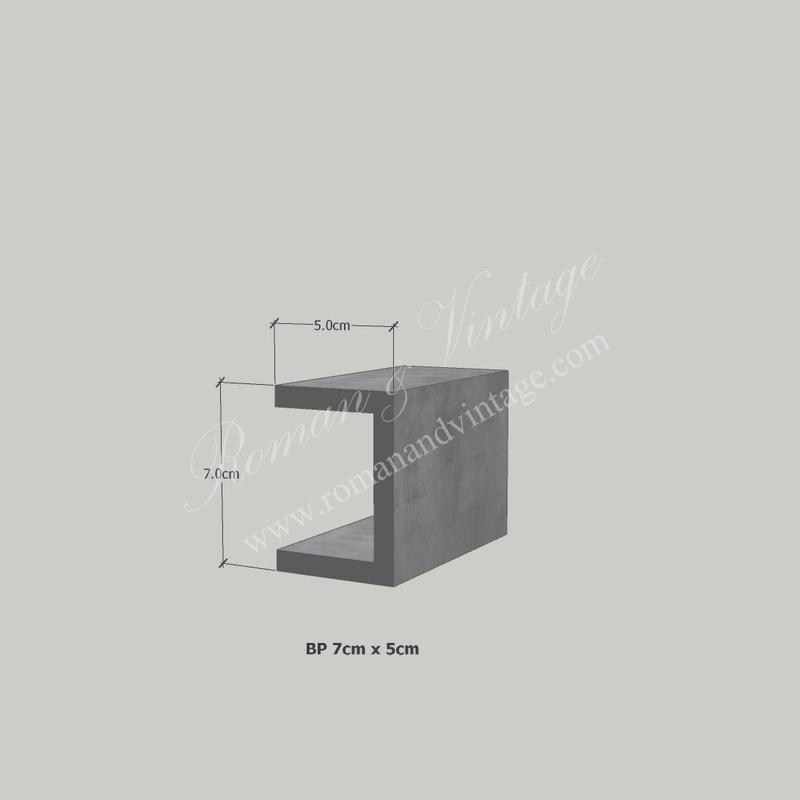 บัวปูนปั้น แบบโมเดิร์น บัวปูนปั้น แบบโมเดิร์น                    BP 7cm x 5cm