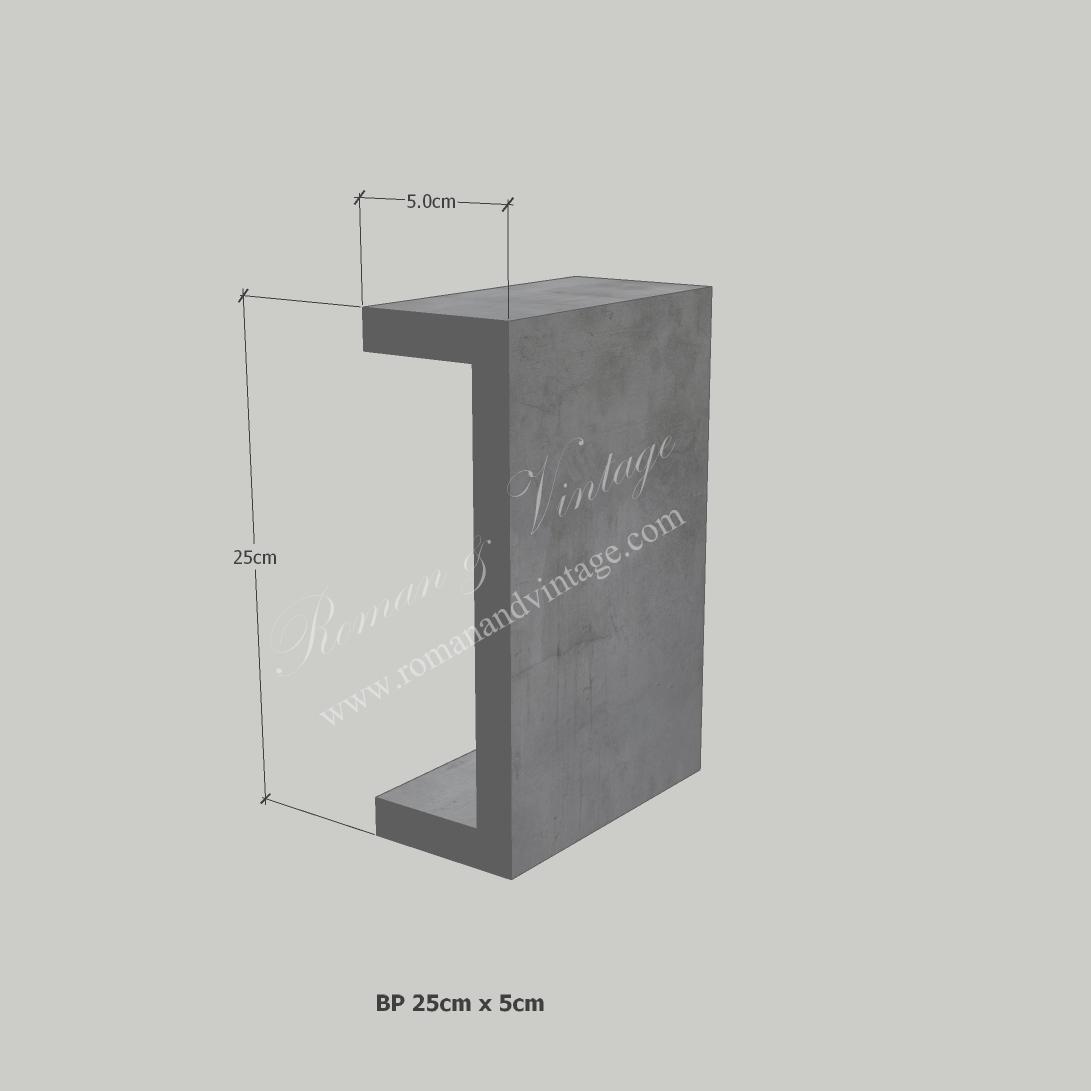 บัวปูนปั้น แบบโมเดิร์น บัวปูนปั้น แบบโมเดิร์น                    BP Bp 25cm x 5cm